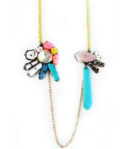 Nikki Couppee: 'Yellow Necklace' plexiglass, brass, silver & resin. 2013