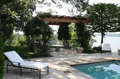 Villa dei Fiori by the Walnut Hill Landscape Company. Love the openess and location by the pool.