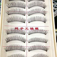 10 זוגות ריסים טבעיים ריסים מלאכותיים בעבודת יד ריסים איפור דליל עיניים לאש ריס מזויף הארכת ריסים משלוח חינם