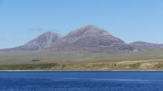 The Paps of Jura seen from the little ferry operating in the Sound of Islay between Port Askaig and Feolin