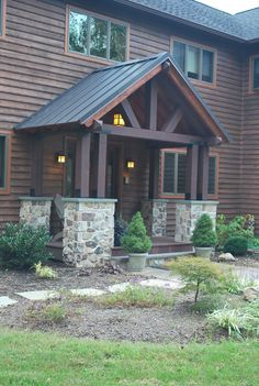 Timber frame Porch eclectic porch