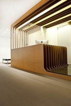 Mal-Vi Architects have created a yawning spread of lithe C.N.C cut m.d.f. within this new Dental Clinic in Kalamaria.
