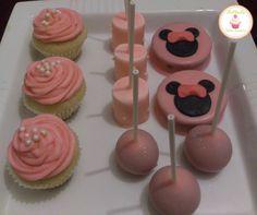cupcakes, marshpop´s, alfajores, cakepops tematica minnie