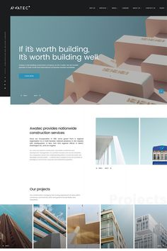 Awatec - #stylish #business   Construction Company Multipage #html5 #website  #template  #67774