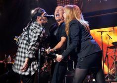 Nils Lofgren, Bruce Springsteen and Patti Scialfa