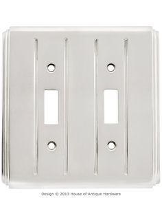 Streamline Deco Toggle Switch Plate - Double Gang | House of Antique Hardware