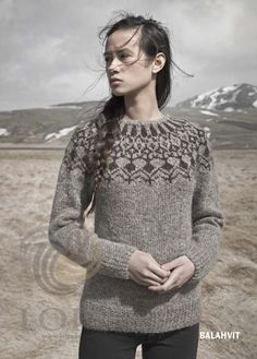 Álafoss - since Icelandic knitting yarn, Icelandic wool sweaters, Icelandic design and souvenirs at a reasonable price - world wide shipping. Ropa Free People, Tejido Fair Isle, Icelandic Sweaters, Fair Isle Knitting, Sweater Design, Mode Inspiration, Knitwear, Knitting Patterns, Knit Crochet