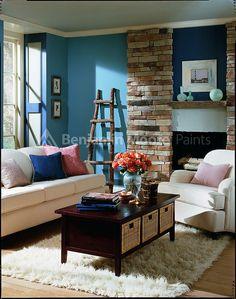 I've always imagined doing that lighter blue in our bedrrom