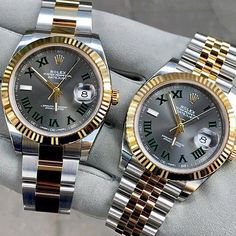 Datejust II with slate roman dials with either Oyster or Jubilee bracelet.