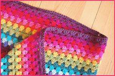 A rainbow in Granny Stripe