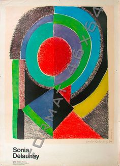 Sonia Delaunay. Affiche. Musée Georges Pompidou