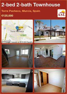2-bed 2-bath Townhouse in Torre Pacheco, Murcia, Spain ►€125,000 #PropertyForSaleInSpain