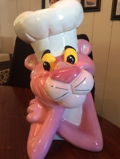 Pink Panther Chef Cookie Jar - Edition limitée #29/1000 Treasure Craft avec COA par vintagebywilson sur Etsy https://www.etsy.com/fr/listing/221943743/pink-panther-chef-cookie-jar-edition