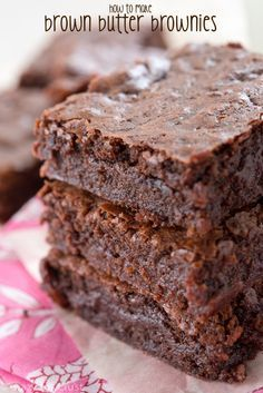 The BEST Brown Butter Brownies