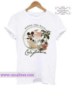 Riding The Waves California Mickey Mouse T Shirt from usualtees.com This t-shirt is Made To Order, one by one printed so we can control the quality.