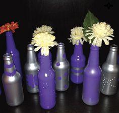 DIY Vase from recycled beer bottles