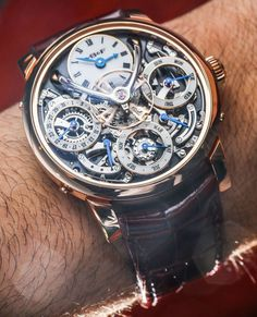 """MBandF Legacy Machine Perpetual Calendar Watch Hands-On by Ariel Adams - """"Set in the same 44mm wide Legacy Machine case as the original LM1, the Legacy Machine Perpetual Calendar is perhaps MB&F's most direct competition to the storied product collections of Switzerland's largest and oldest watch """"maisons"""" to date..."""""""