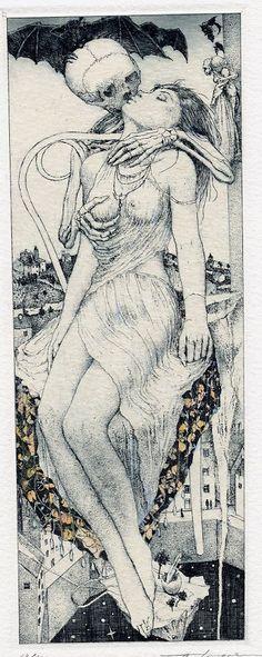 Ex-Libris Illustration by Alphonse Inoue from Cultura Inquieta.