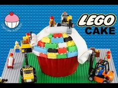 LEGO CAKE! How to Make A Lego Construction Cake - Learn how to make these delicious treats, and heaps more at Mycupcakeaddiction!