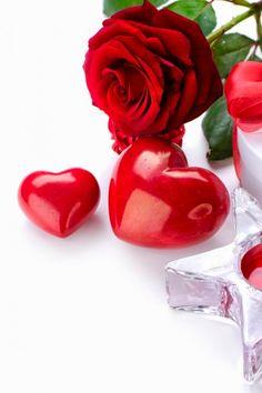 Rose with love hearts valentine photo Flowers Dp, Beautiful Rose Flowers, Rose Wallpaper, Mobile Wallpaper, Dp For Whatsapp, Emoji Love, Good Morning Flowers, Wallpaper Pictures, Gif Pictures