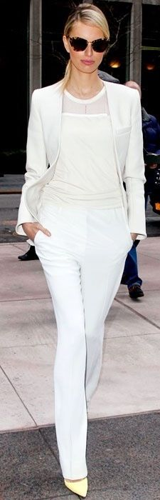 White Suit Street Chic