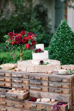 "An Enchanting ""Little Red Riding Hood"" Wedding Inspiration Shoot - Chic Vintage Brides Red Wedding, Rustic Wedding, Wedding Flowers, Wedding Day, Wedding Bouquet, Wedding Ceremony, Wedding Desserts, Wedding Cakes, Wedding Decorations"