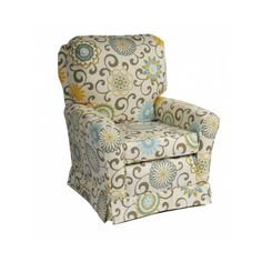 I love this Cottage SS Glider from Oh Baby! You can personalize the fabric and buy the ottoman as well. SO comfy. Putting this on my wish list :)