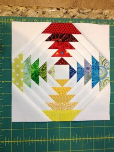 Progess of paper pieced pineapple quilt
