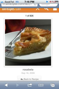 Real good apple pie recipe!! http://m.allrecipes.com/recipe/12682/recipeapple-pie-by-grandma-ople#