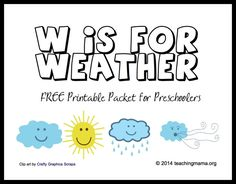 W is for Weather -- Free Printable Packet