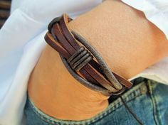 Men's Bracelet mens bracelet mens leather by leatheristanbul