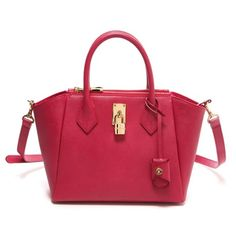 Fuschia Pink Azayle Bag from Samantha Thavasa. It is from a sturdy calf skin (Saffiano?!), I think.