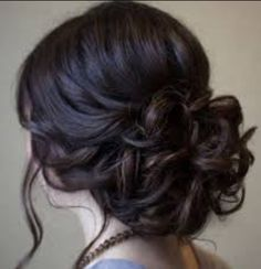 Updo Hairstyle Beautiful Low Prom Updo Hairstyle With Loose Soft Curls - Women haircuts highlights asymmetrical hairstyles longer,waves hairstyles for kids boho hairstyles wedding,long full bangs fast hair bun. Prom Hair Updo, Homecoming Hairstyles, Party Hairstyles, Wedding Hairstyles, Hairstyle Ideas, Curly Homecoming Hair, Headband Wedding Hair, Curled Updo Hairstyles, Updo Curly