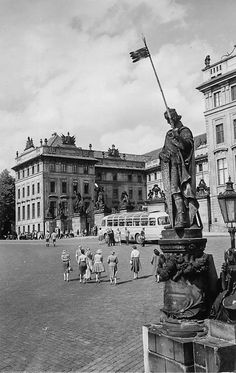 Prague of yesteryear. Courtesy of Vilém Heckel Archive Prague Czech, Czech Republic, Old World, Statue Of Liberty, Cool Pictures, Archive, Shots, Louvre, Nice