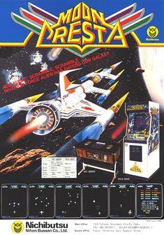 Moon Cresta arcade game promotional leaflet