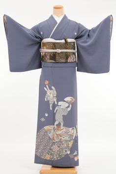 Tomesode kiralama (siyah Tomesode ve renk Tomesode) | kimono kiralama Waraku-102-L-kaw0048
