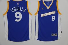 d9e5c3c95d2 Golden State Warriors #9 Iguodala Blue Throwback Men 2017 New Logo NBA  Adidas Jersey Warriors
