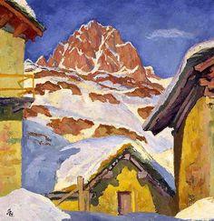 Winter in Maloja - Giovanni Giacometti - 1929