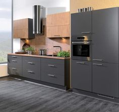 our new kitchen!!!  oak and grey