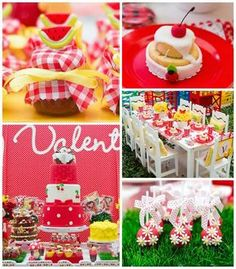 Festa com tema de picnic