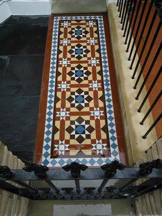 Victorian mosaic tile path colour, London
