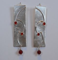 Carnelian Rhythm handmade earrings Christine Peters Hamilton