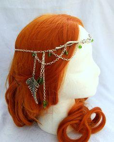Forest Elf Branch and Fern Silver Circlet, Fairy Circlet, Elfin Headpiece, Medieval Circlet, Renaissance Crown. $42.00, via Etsy.