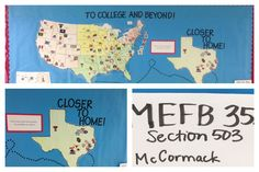 This is a great way to make students excited about going to college. By showing the students there are so many options of colleges and where they are located on a map is a fun way to help students in their quest to college