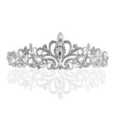 Meiysh Wedding Tiara Rhinestones Crystal Bridal Headband Pageant Princess Crown * Want additional info? Click on the image. #Headbands