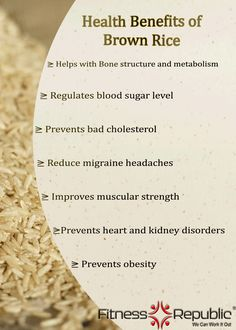 Brown Rice benefits! :)