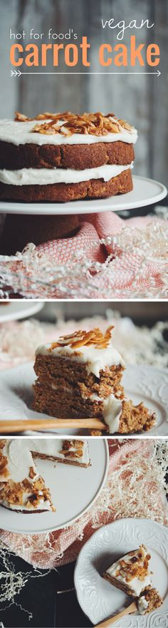 vegan carrot cake. Perfect for Easter or any occasion | RECIPE on hotforfoodblog.com