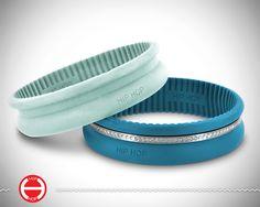 Happy Ring Bracelets / Aqua Red
