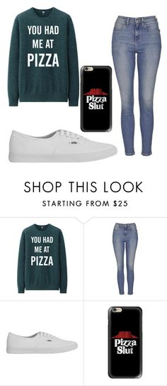 """""""Pizza"""" by alwaysapotter-head ❤ liked on Polyvore featuring Topshop, Vans, Casetify, women's clothing, women's fashion, women, female, woman, misses and juniors"""