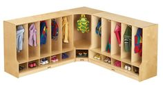 Jonti-Craft® Toddler Coat Lockers with Step